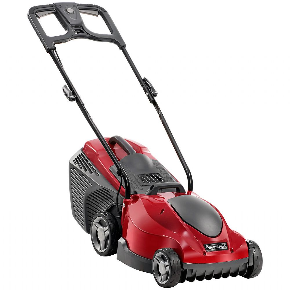Mountfield princess 34 electric 4 wheel rear roller lawnmower for Different tools and equipment in horticulture